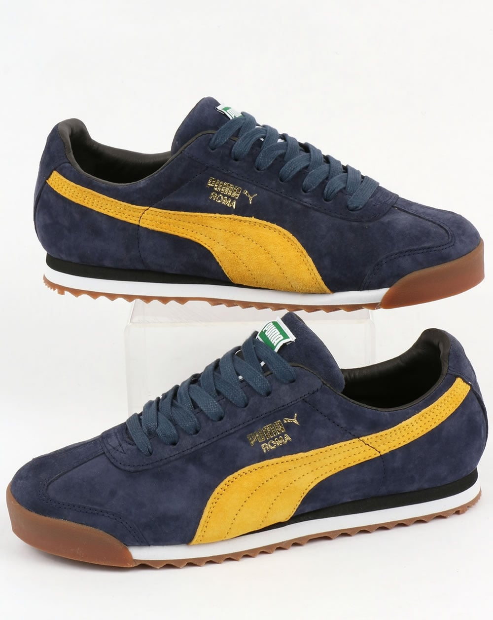 competitive price d27c5 25a3a Puma Roma Trainers Navy/Yellow