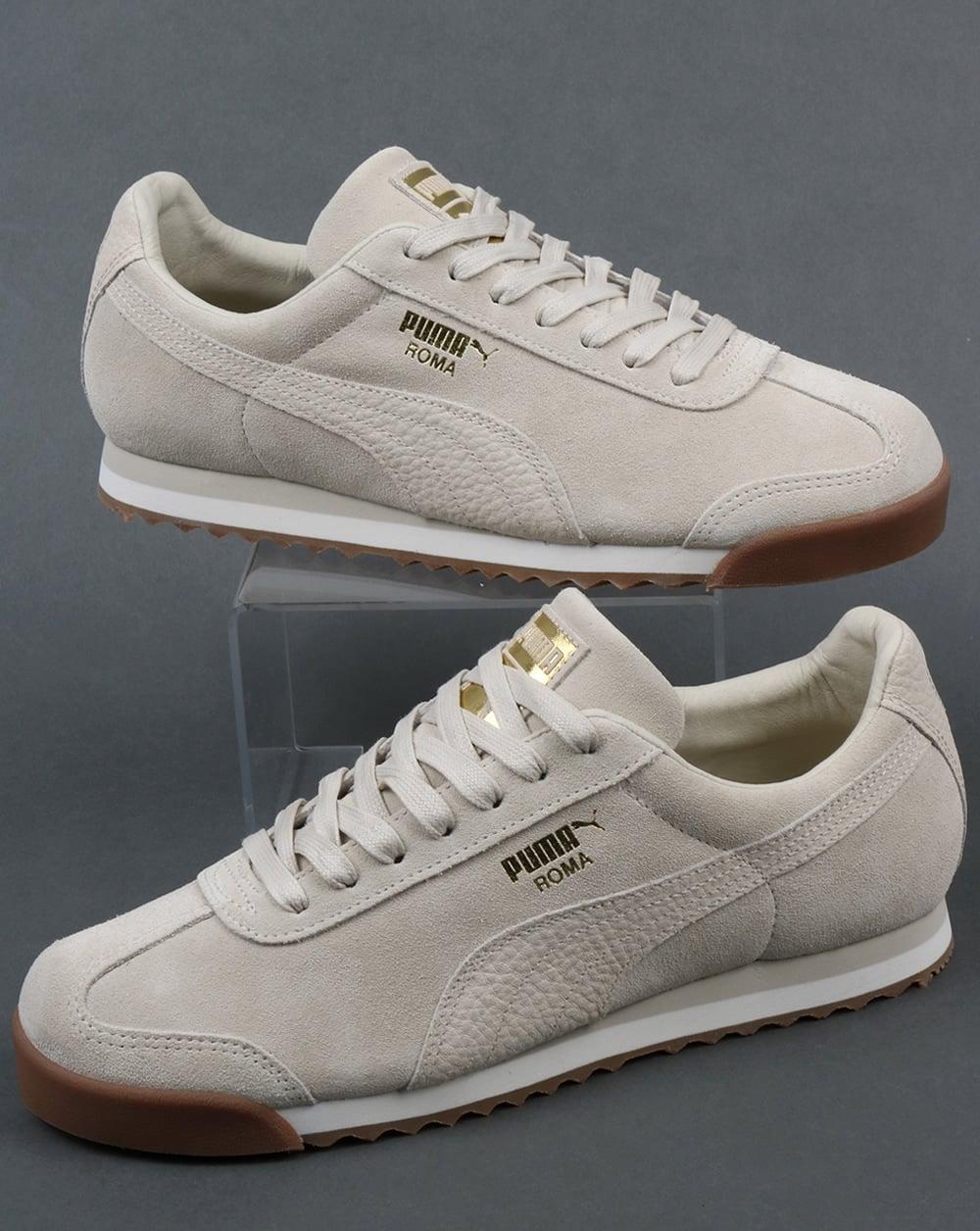 84e357e83a6de0 Puma Puma Roma Trainers premium off white