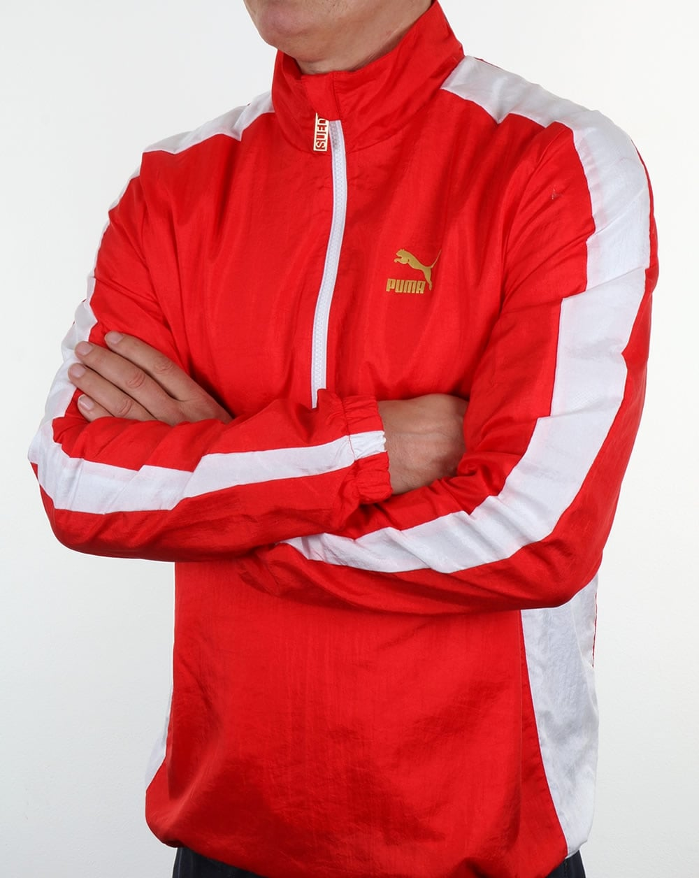 Puma T7 Bboy Track Jacket Red White Savannah Break Dance