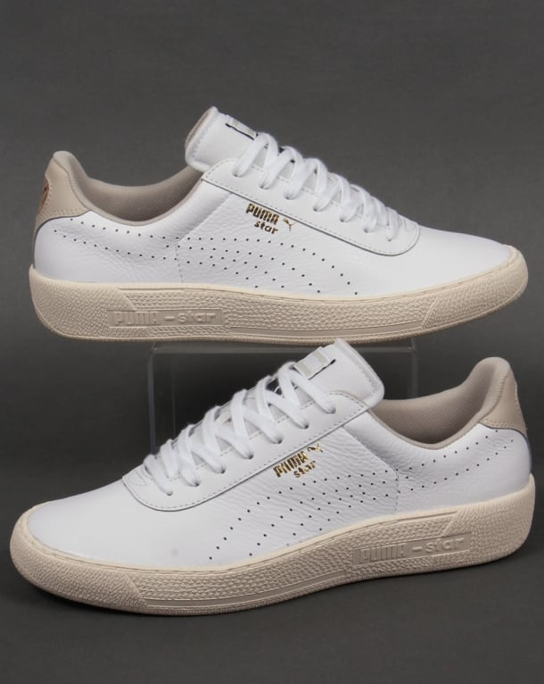 Puma Star Crafted Leather Trainers White