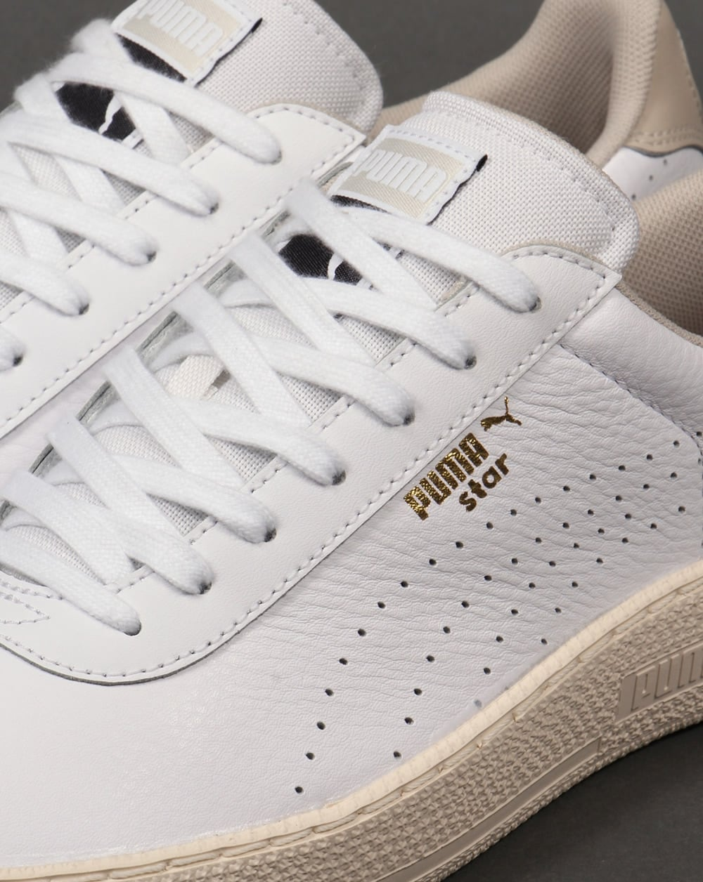 e5fe6e07d66 Puma Star Crafted Leather Trainers White - Trainers from 80s Casual ...