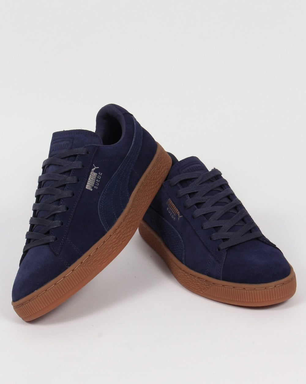 puma suede citi trainers navy shoes sneakers classic mens. Black Bedroom Furniture Sets. Home Design Ideas