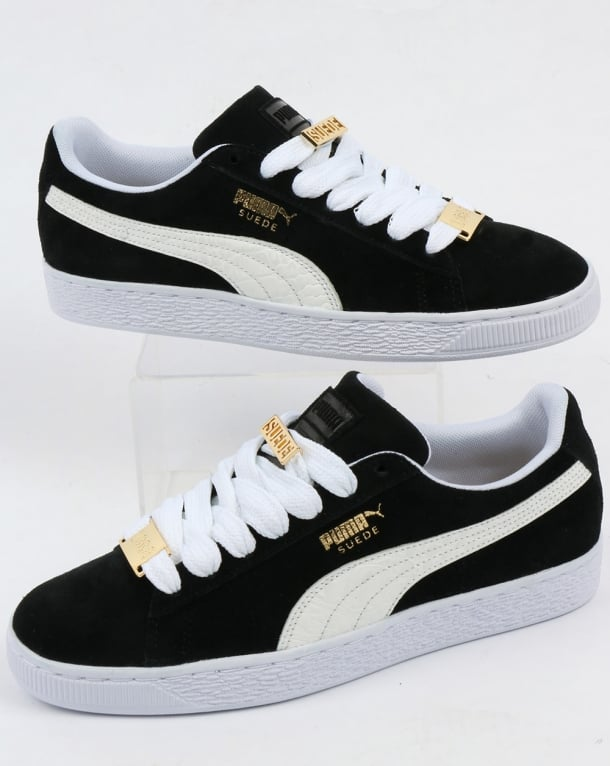 4eae4931a8406 Puma Suede Classic Bboy Fabulous Trainers Black white ...