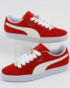 Puma Suede Classic Bboy Fabulous Trainers Flame Scarlet/white