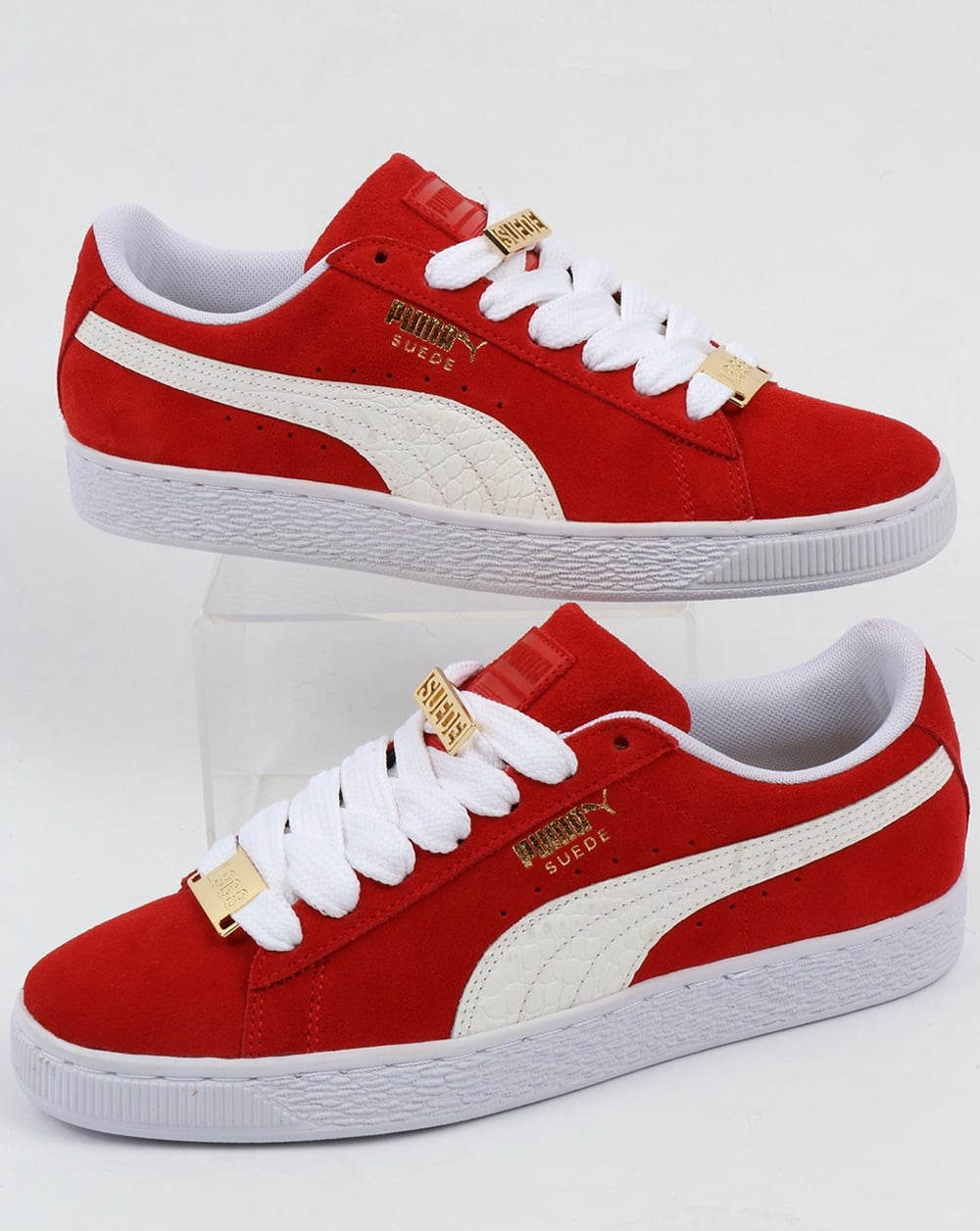 uk availability f573c 7e875 Puma Suede Classic Bboy Fabulous Trainers Red/white