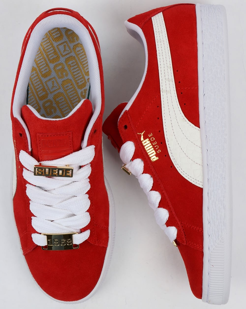 c9535c9849e Puma Suede Classic Bboy Fabulous Trainers Red white