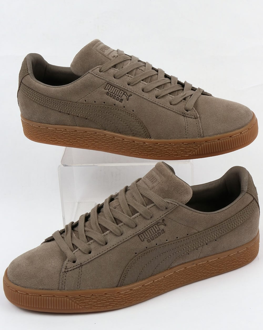 sports shoes 0f28c dffb6 Puma Suede Classic Premium Trainers Falcon Grey