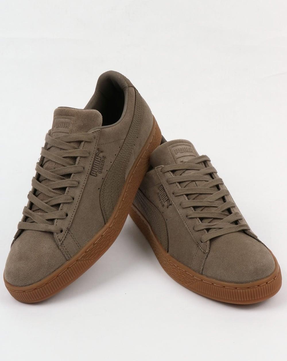 sports shoes 4c340 2408f Puma Suede Classic Premium Trainers Falcon Grey