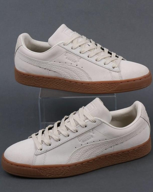 Puma Puma Suede Classic Premium Trainers Off white Gum c8ee7caad