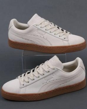 puma beige suede gum trainers