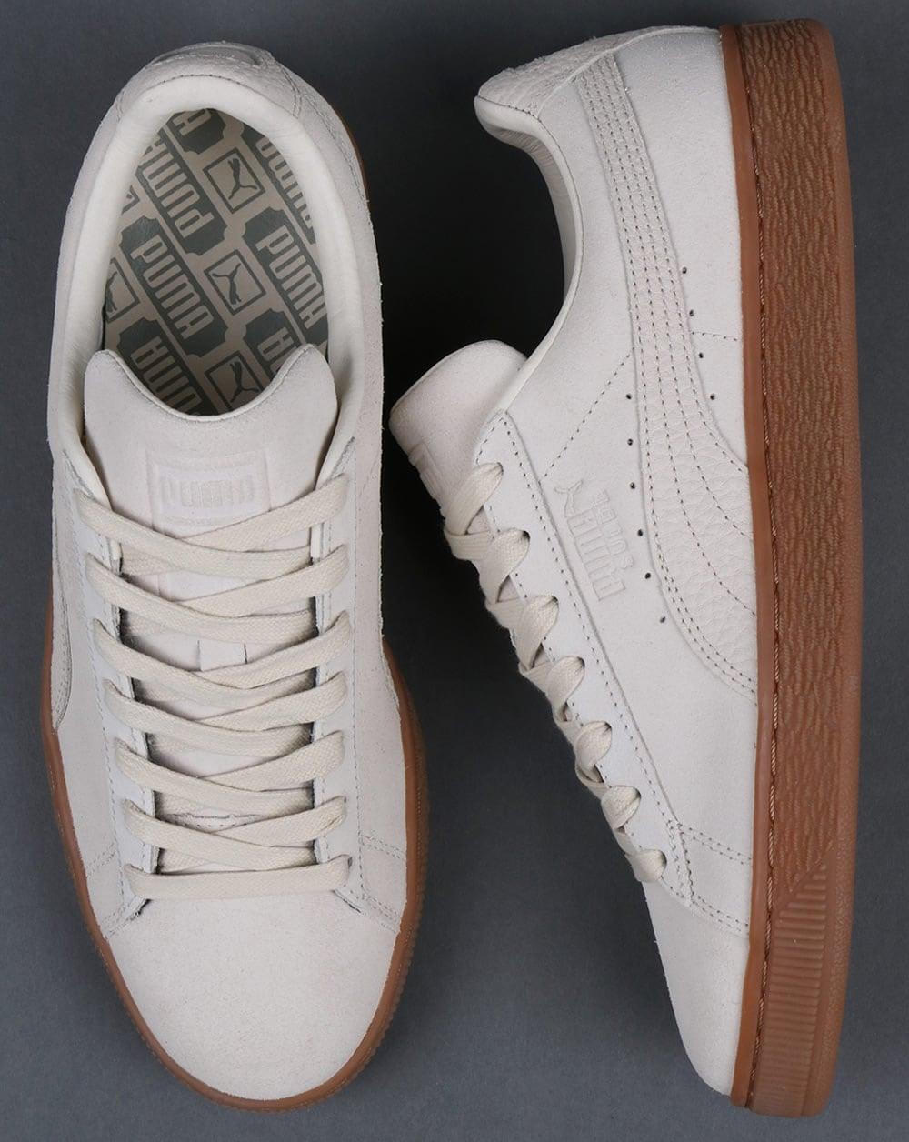 online store 894e1 74643 Puma Suede Classic Premium Trainers Off white Gum