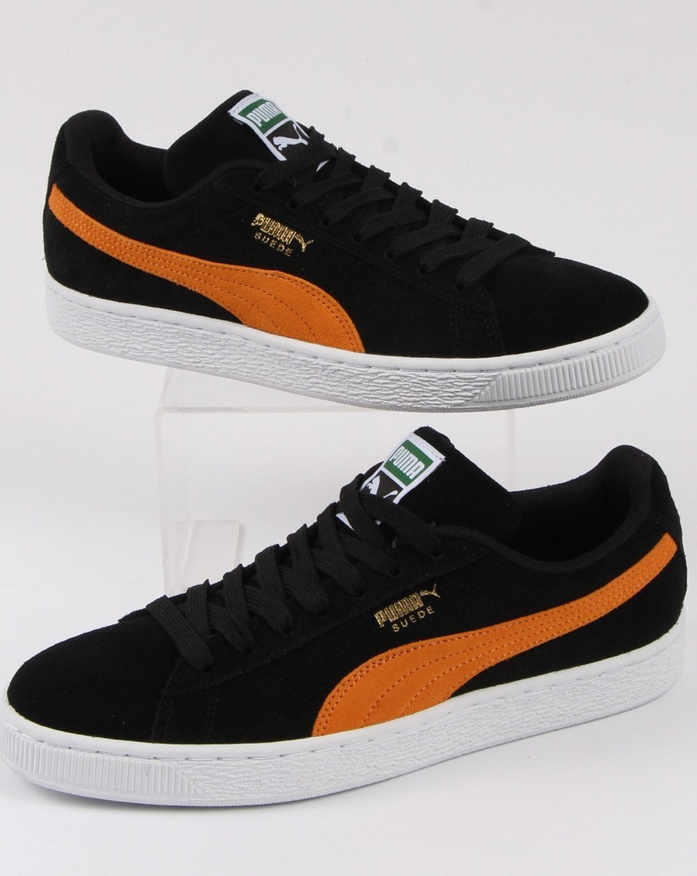 official photos 8da31 14c3d Puma Suede Classic Trainer Black/orange