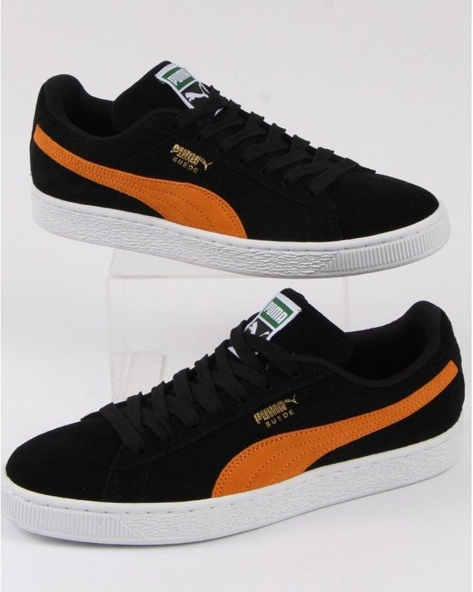 da752d4c026151 Puma Suede Classic Trainer Black Orange - Shop Puma Suede At 80sCC