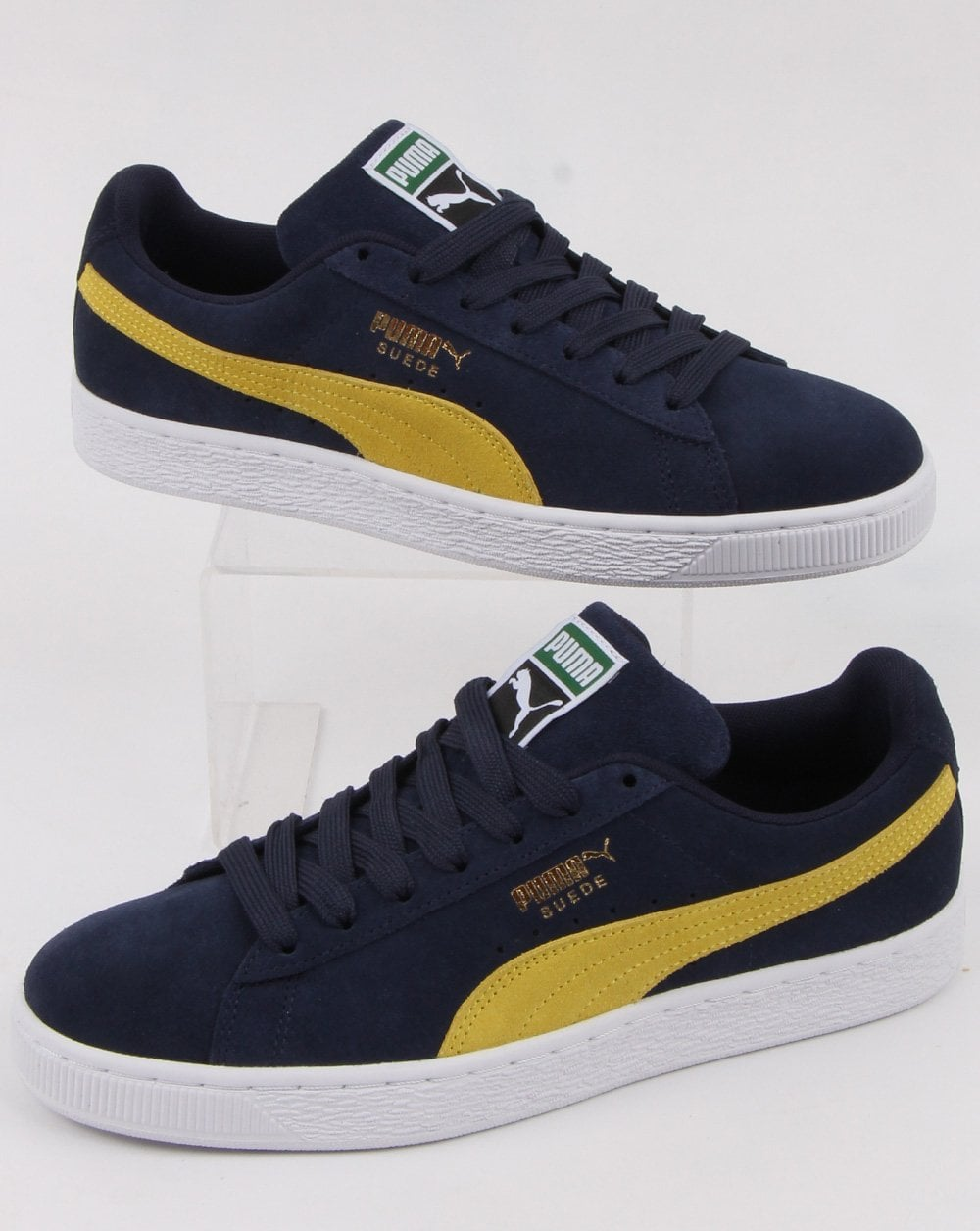 superior quality 27d53 14bc7 Puma Suede Classic Trainer Navy/Yellow