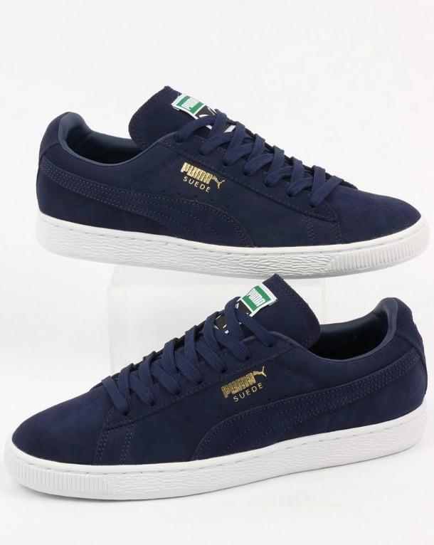 puma suede classic navy blue