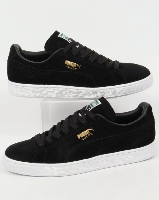 puma suede classic trainers black black puma suede. Black Bedroom Furniture Sets. Home Design Ideas