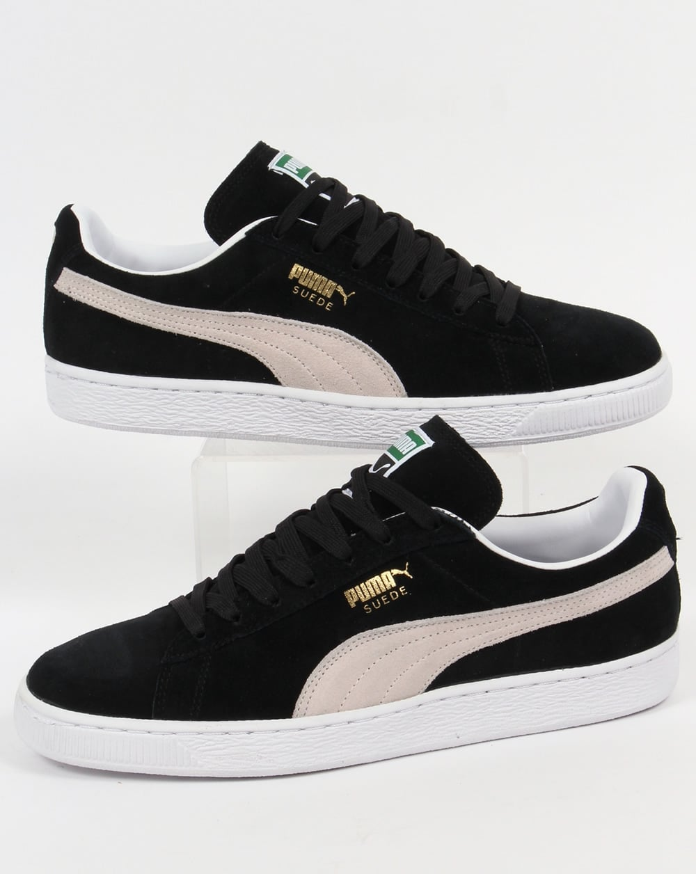 puma suede classic trainers black white shoes gum mens. Black Bedroom Furniture Sets. Home Design Ideas