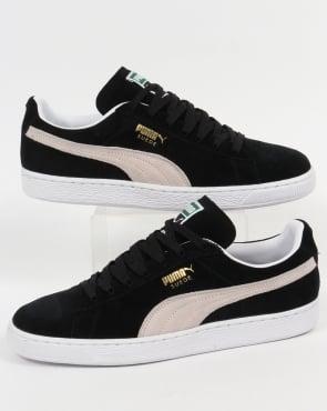 Puma Suede Classic Trainers Black/White