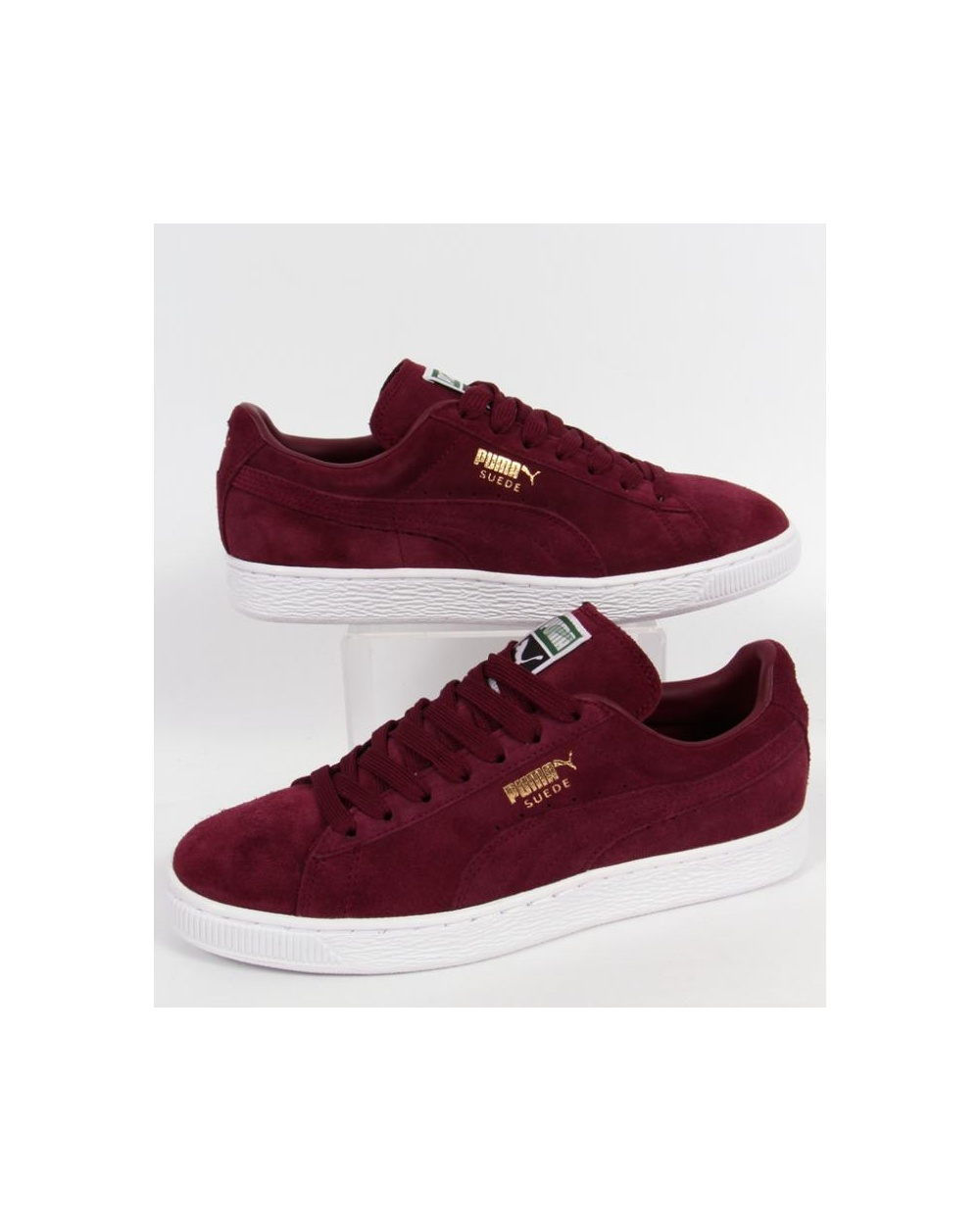 puma suede classic trainers burgundy burgundy puma suede. Black Bedroom Furniture Sets. Home Design Ideas