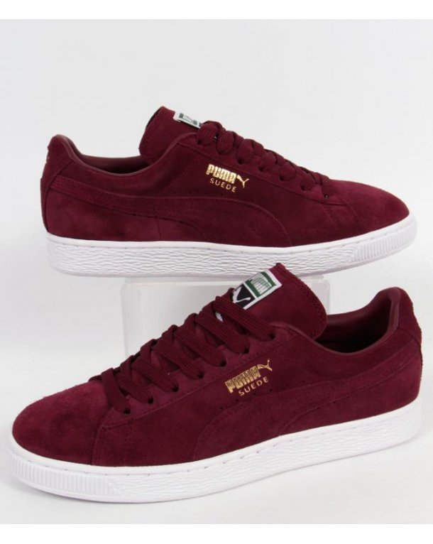 timeless design d103a a0896 puma suede dark red