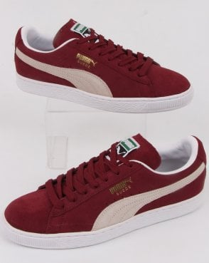 Puma Suede Classic Trainers Burgundy/white