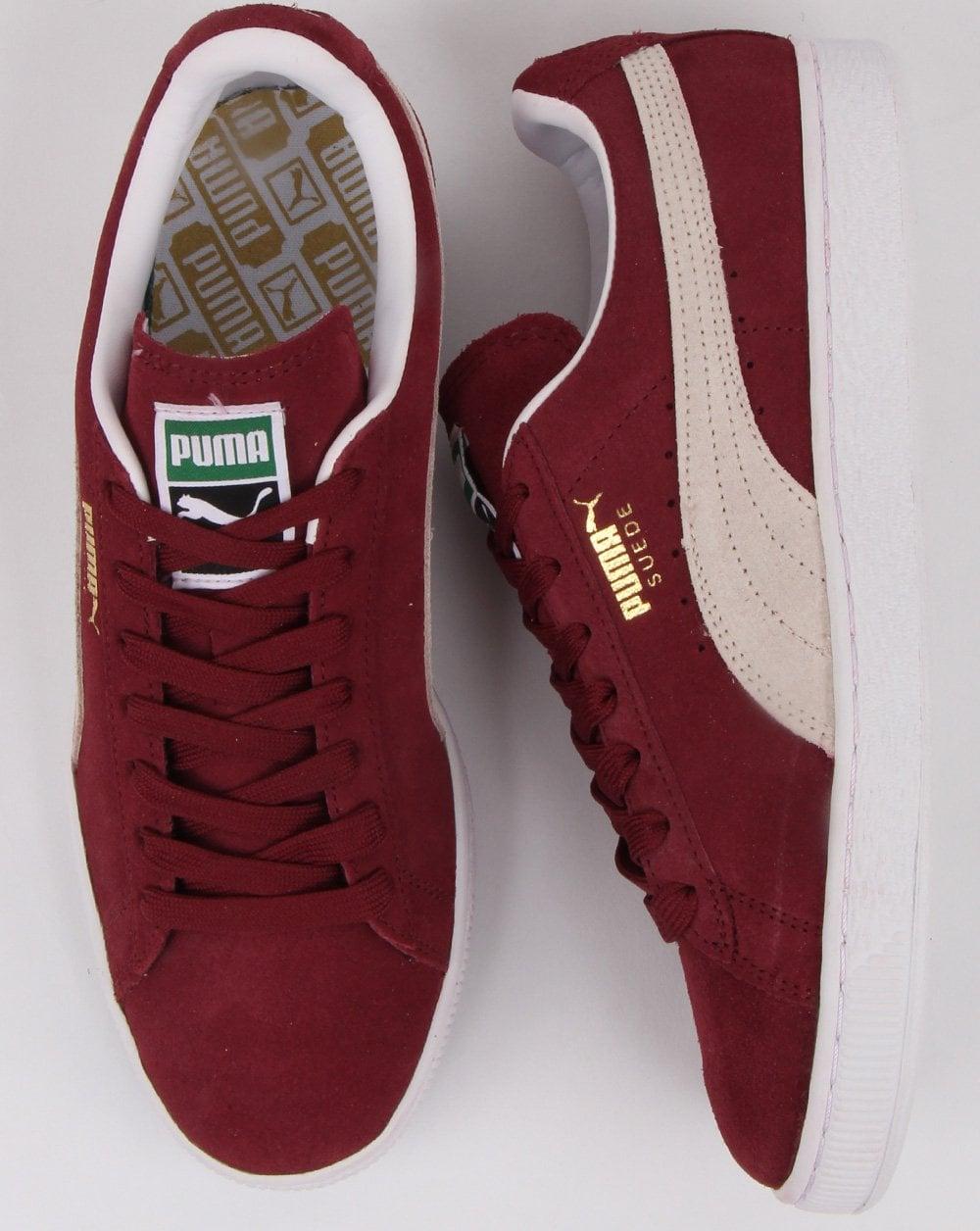 Puma Suede Classic Trainers Burgundy