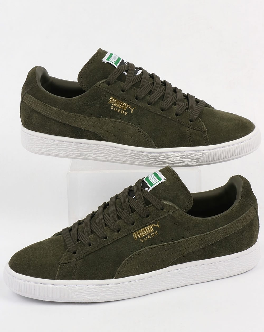 puma suede classic trainers forest night white shoes. Black Bedroom Furniture Sets. Home Design Ideas