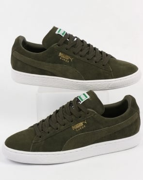 Puma Suede Classic Trainers Forest Night/White