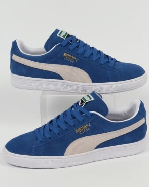 Puma Suede Classic Trainers Olympia Blue/white