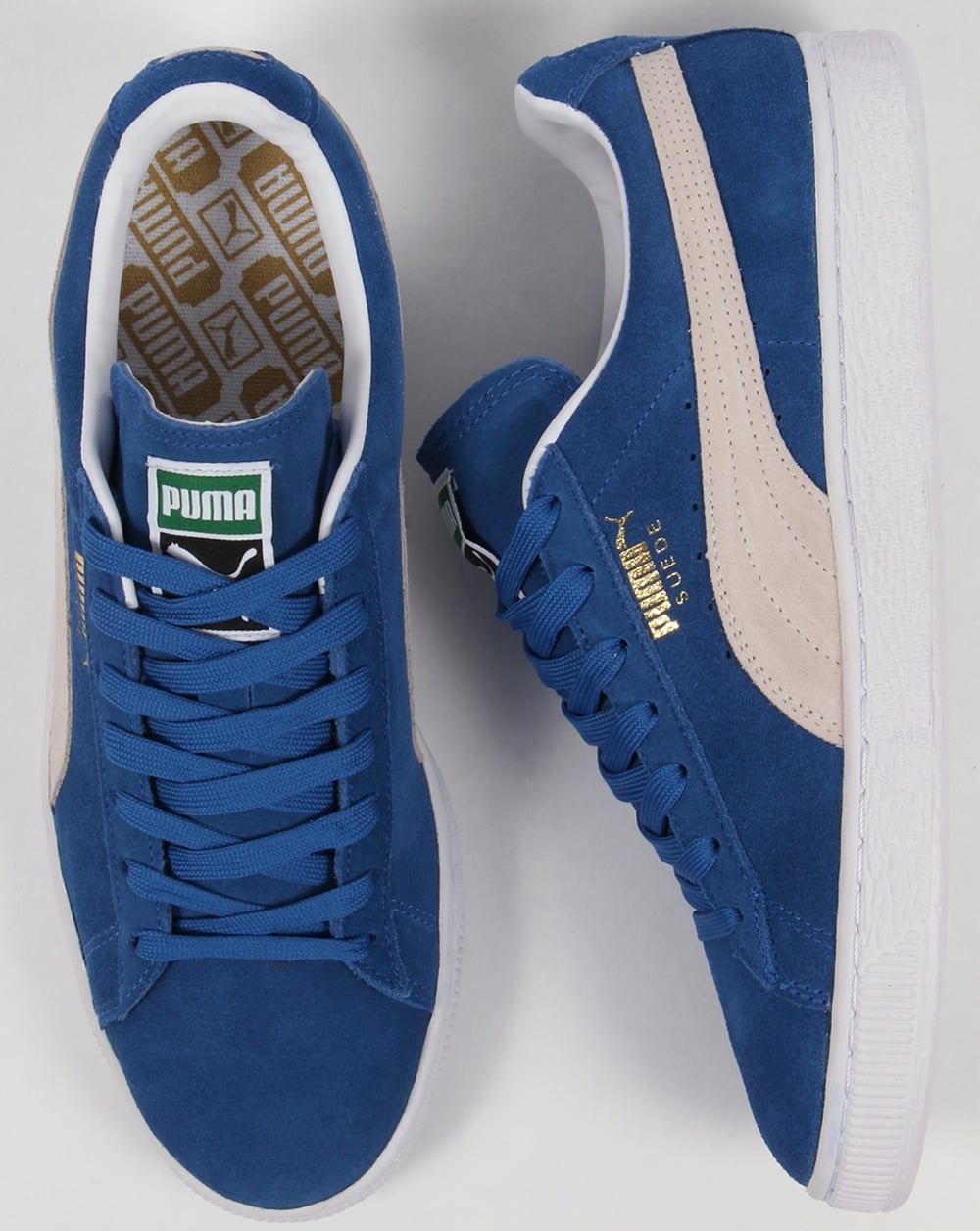 Puma Suede Classic Trainers Olympia Blue White 316ac8224