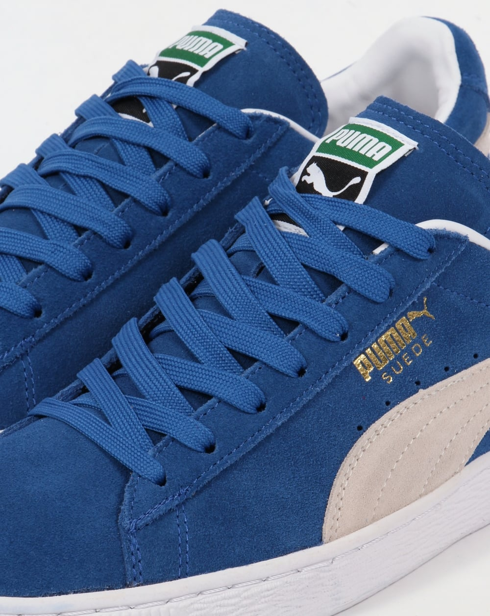 wholesale dealer 396e4 ac1d7 Puma Suede Classic Trainers Olympia Blue/White