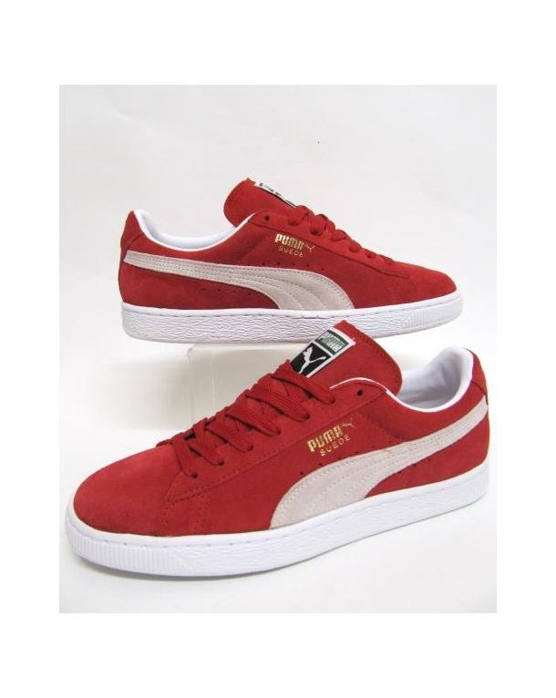 best website ef9bd c3876 red suede puma trainers