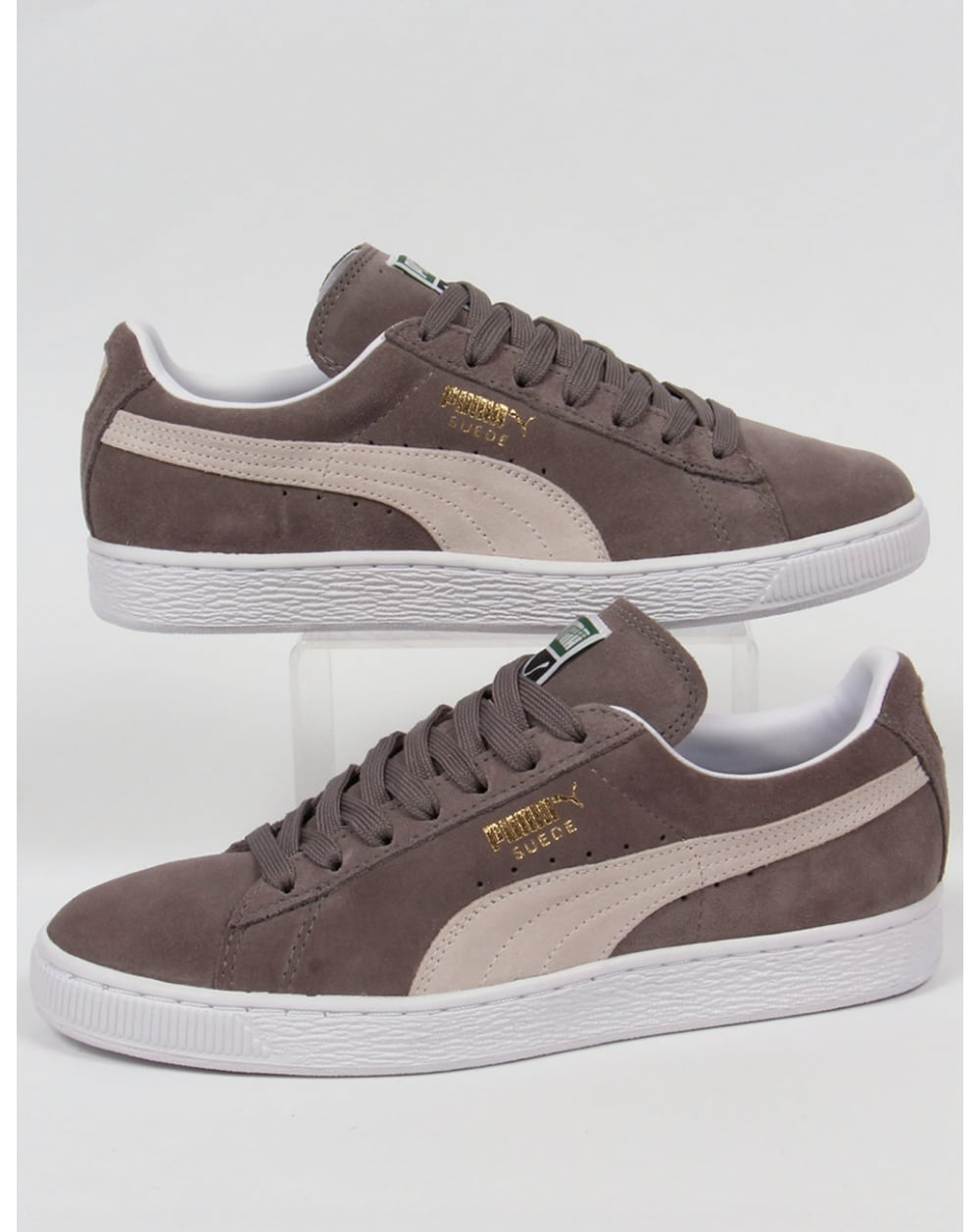 puma suede classic trainers steeple grey white shoes. Black Bedroom Furniture Sets. Home Design Ideas