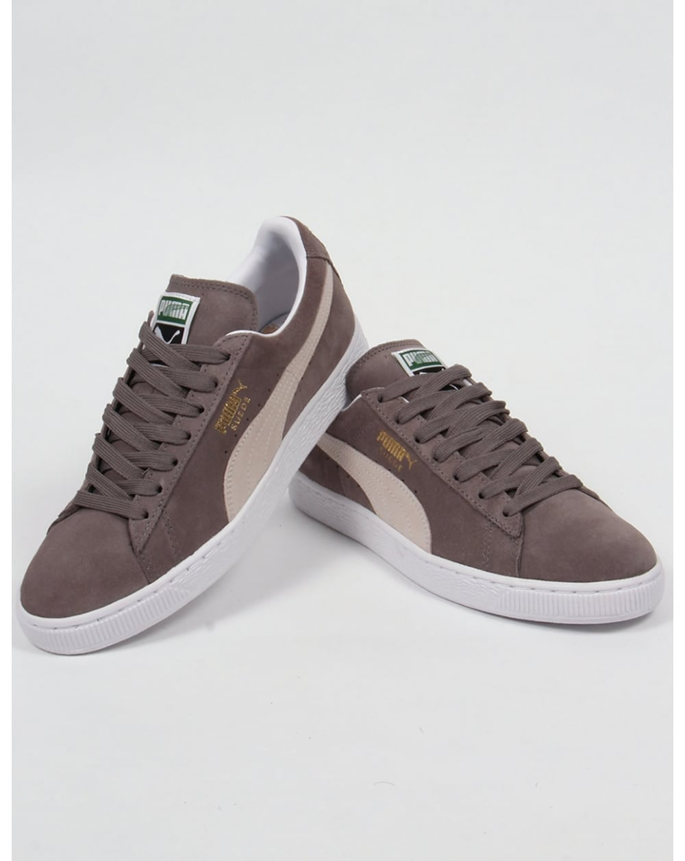 Puma SUEDE CLASSIC+ - Trainers - steeple gray/white