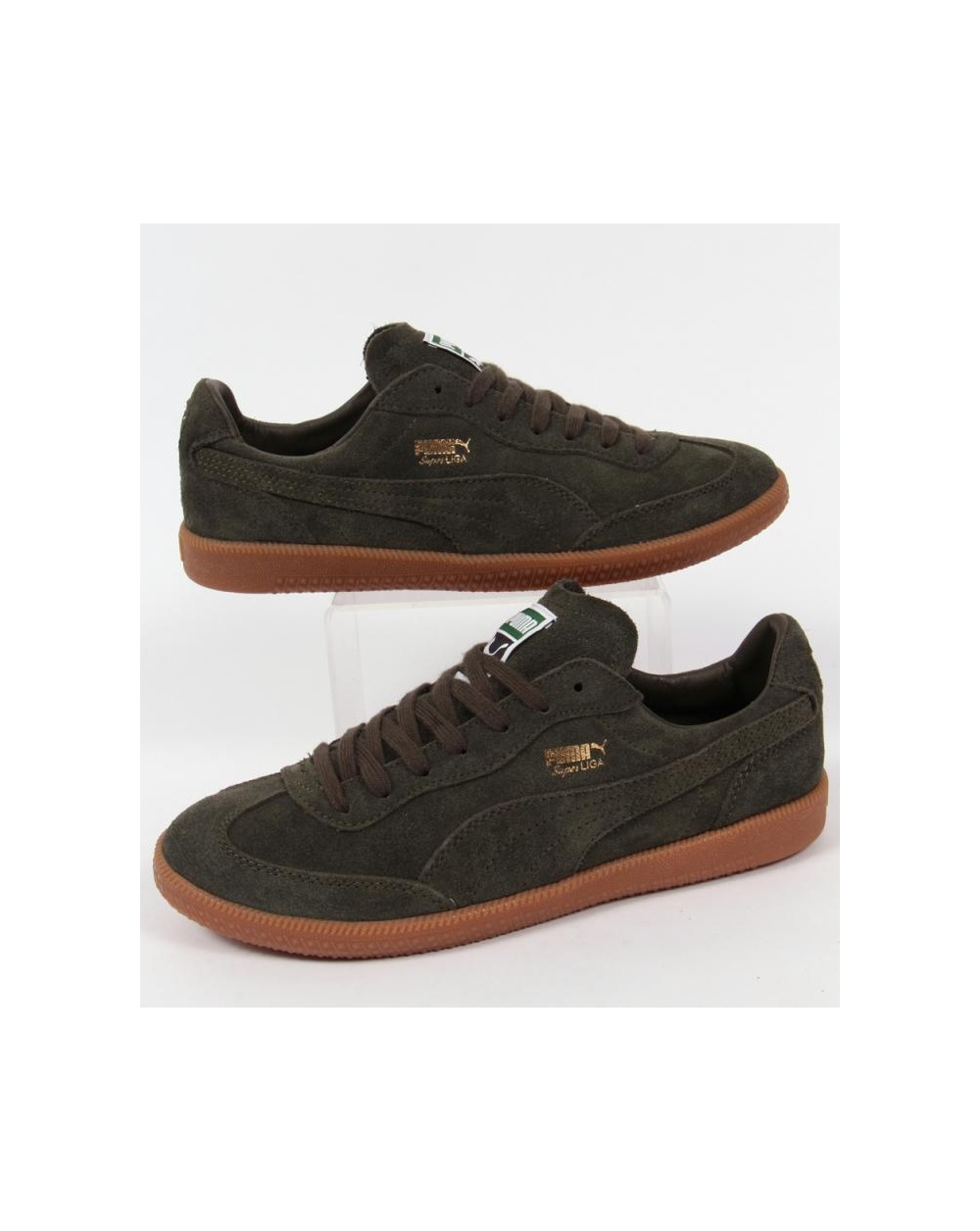best website ce026 0232b Puma Super Liga Trainers Forest Green/gum