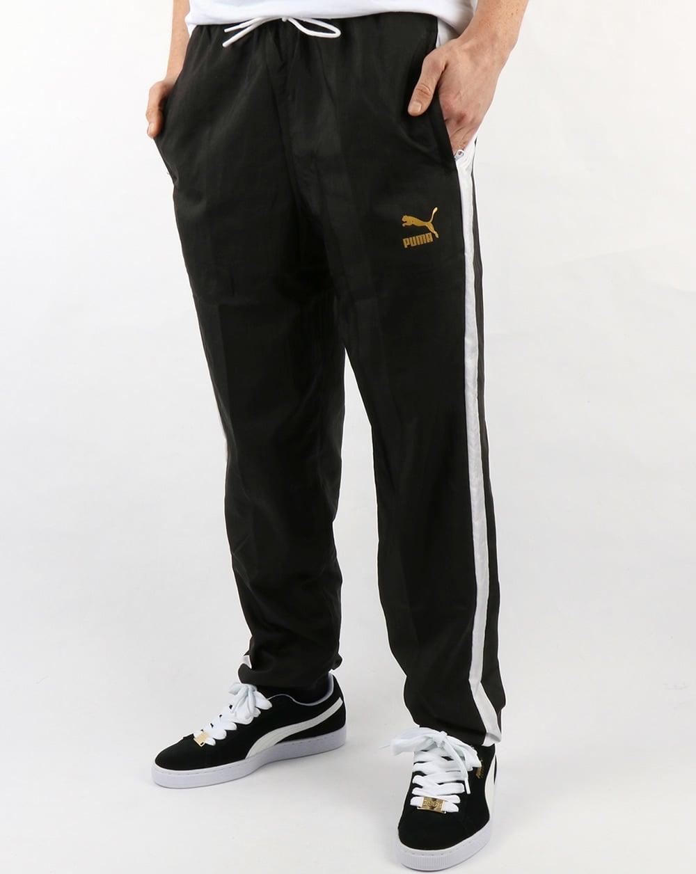 Puma T7 Bboy Track Pants Black White 80s Casual Classics