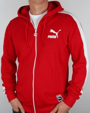 Puma T7 Full Zip Hoody Cherry Red