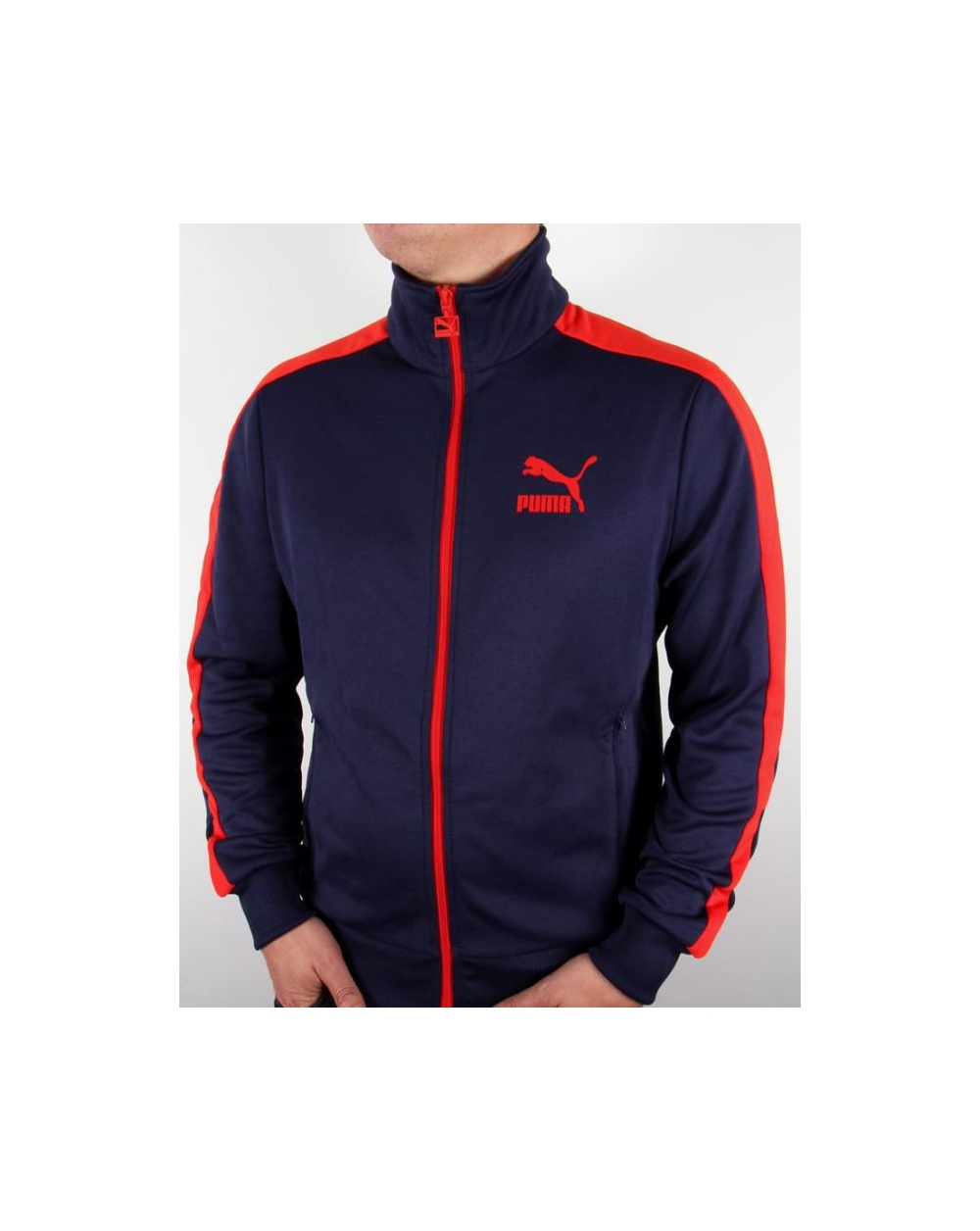 fb6361fb3460 Puma T7 Track Top Navy red - T7 tracksuit top