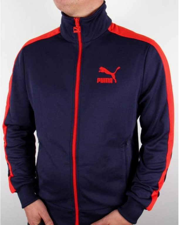 Puma T7 Track Top Navy Red T7 Tracksuit Top Jacket
