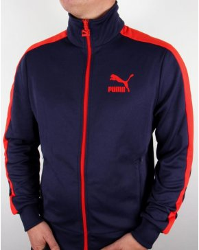 Puma T7 Track Top Navy/red