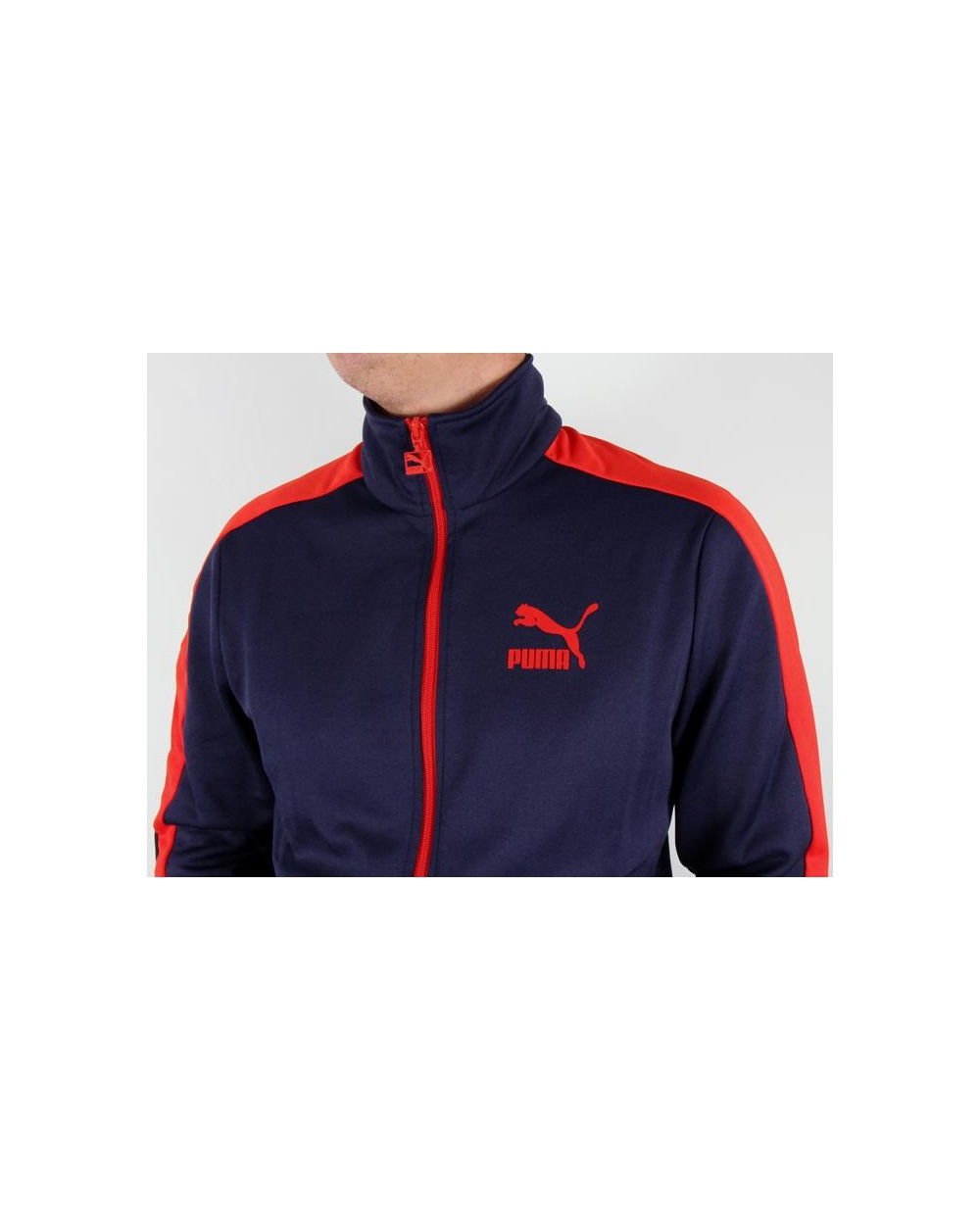 c51dccf8 Puma T7 Track Top Navy/red