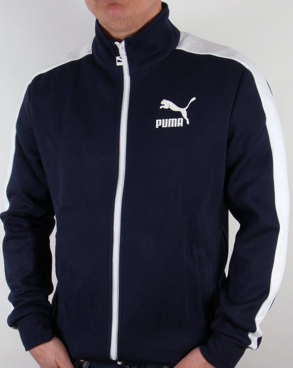 blue and white puma tracksuit