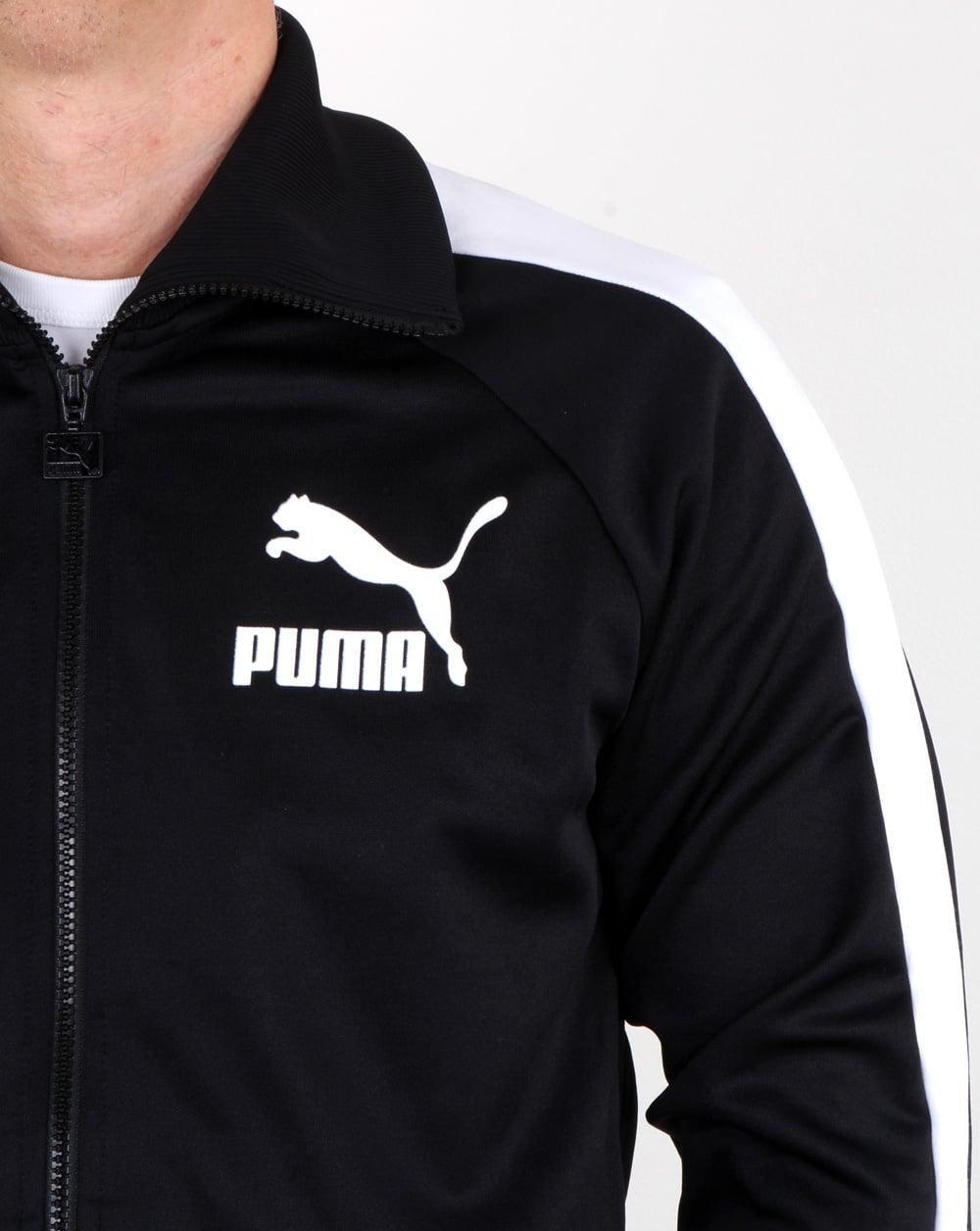 af2c7297c7eb9 Puma T7 Vintage Track Jacket Black/white