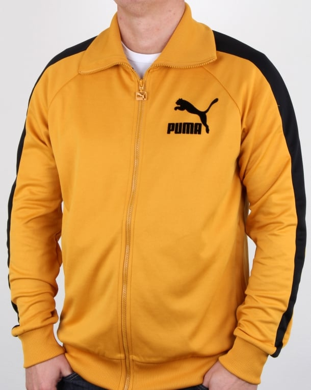 Puma T7 Vintage Track Top Mineral Yellow/black