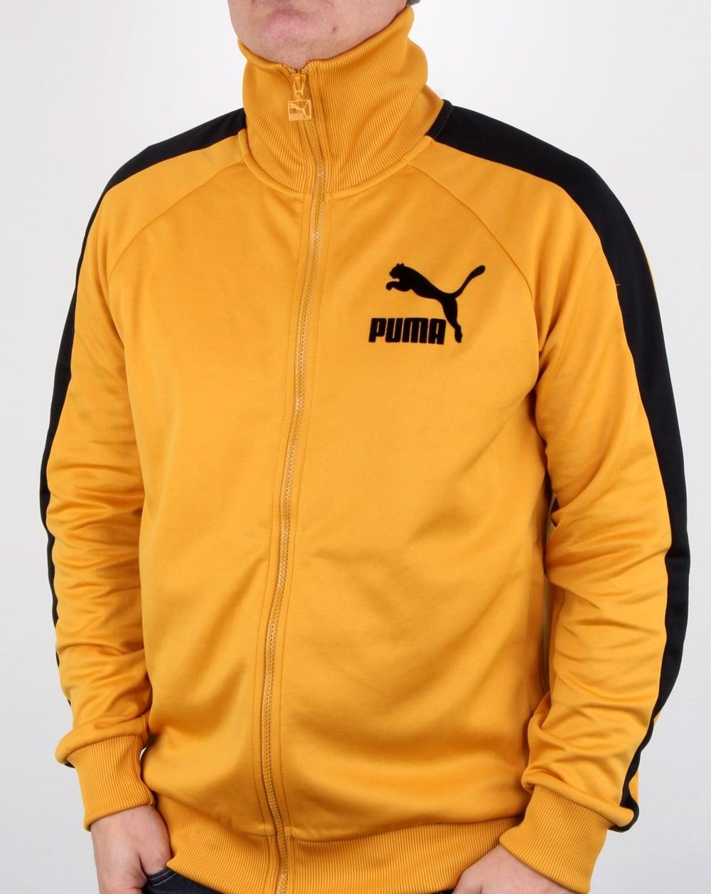 6b1d0a5b3944 Puma T7 Vintage Track Top Mineral Yellow black