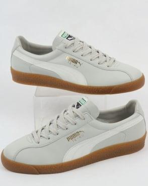 Puma Te-ku Leather OG Trainers Grey/White