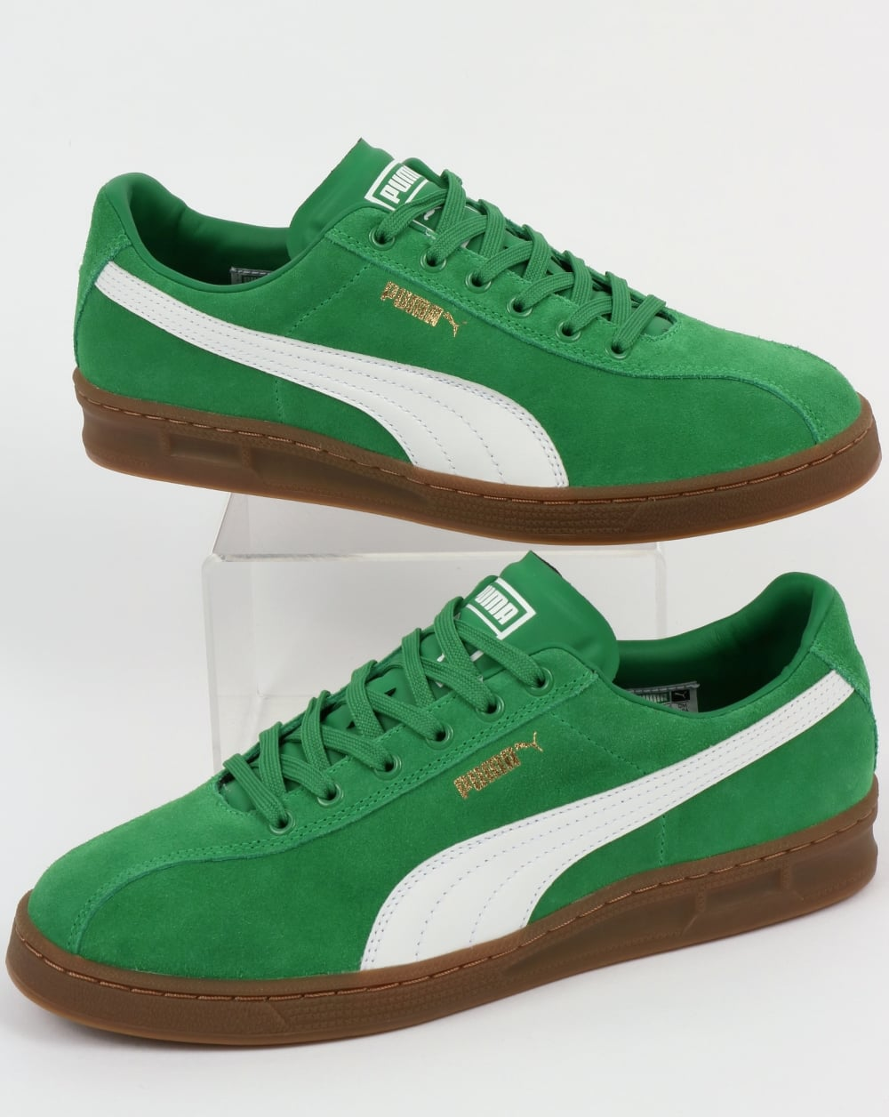 green puma trainers