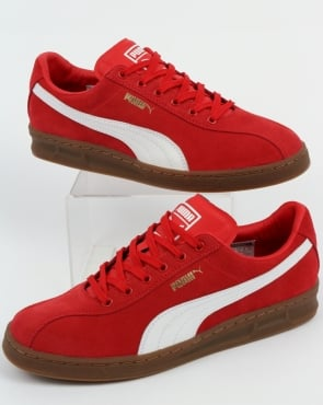 Puma TK Indoor Heritage Trainers High Risk Red