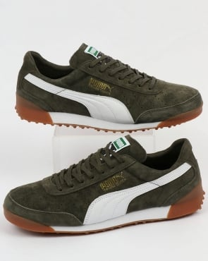Puma Trimm Quick Mu Trainers Forest Night/white