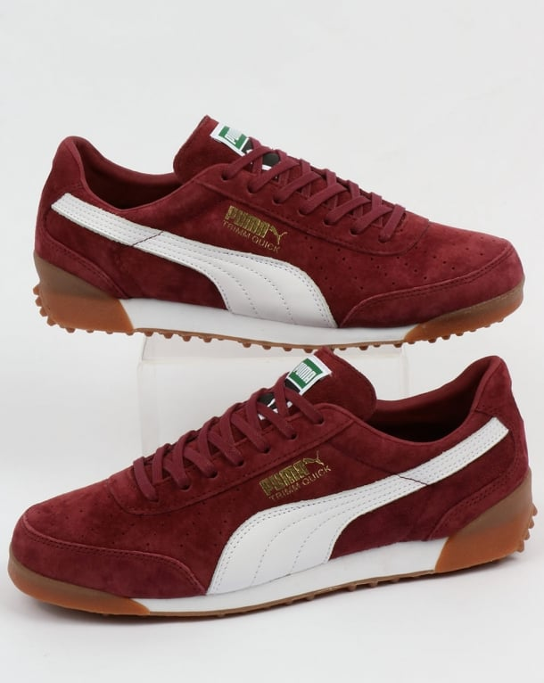 Puma Trimm Quick Trainers Burgundy/White